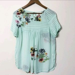 3/$30 Anthropologie Turquoise Blouse 165